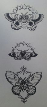 Moth Tattoo Designs by manny1212