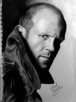 jason statham pencil and ink by mathio91
