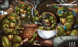 new Teenage Mutant Ninja Turtles print for shows by Sajad126