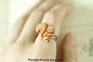Little Squirrel Ring by MonsterBrandCrafts