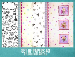 set of papers 3 by spectacularstyle