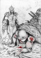 Dawn of Leonardo pencil work by SaintYak