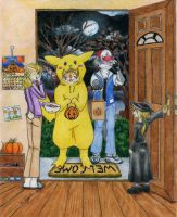 Trick or Treat Pikachu by RuntyTiger