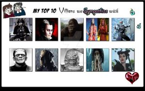 Top 10 Villains We Sympathize With by ARTIST-SRF