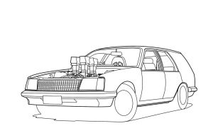vc holden wagon line art wip by vnsupreme