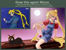 Draw this again: Sailor Moon by Louistrations