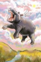 Flying Hippo by BartBar