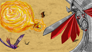 Double Stadium Battle - Draw This Again by afrolady114