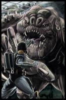 Boba vs Rancor web pic by TheArtofScott