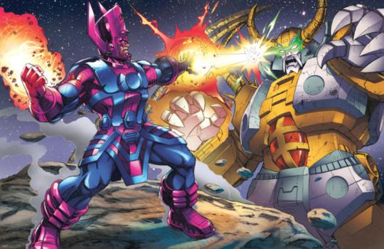 Galactus v Unicron by Dan-the-artguy