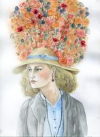Floral hat by Gawarin