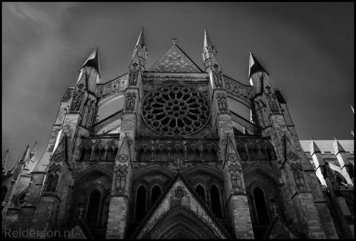 Black and white church by Relderson