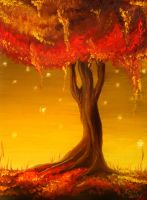 The Mother Tree Of Autumn by Leliumoj