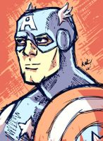 Captain America - Prize - Ipad Sketch by Kat-Nicholson