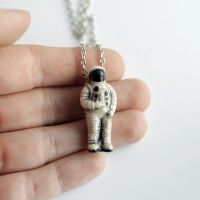Astronaut Necklace by MonsterBrandCrafts