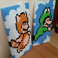 Mario Suit 8-bit Paintings by britkneemo