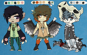 : Hunter Mystery Adopts - CLOSED : by BrainEaterChu