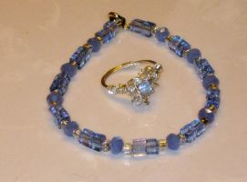 bracelet and ring set by faranway