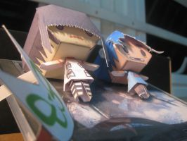Gorillaz' Noodle and 2D papercraft by mirver