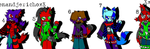 Goth-Emo Sonic Adoptables- 6 Open! by FlamingPulse