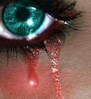 Edit eye, crying blood by MimiTheFox