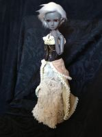 Doll Outfit : Steampunk dress by Cheesedemon88