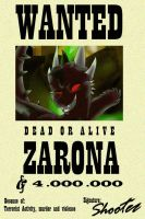 Wanted Zarona by Donarion