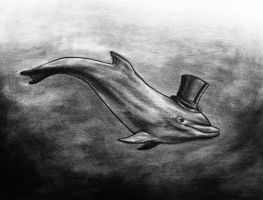 Dolphin in Top Hat by IronMaiden720