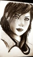 Female Shepard (mass effect) by lucijankamikaza2