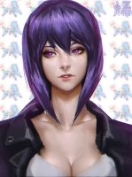 Kusanagi Portrait by ZeroNis