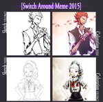 switch around meme [Death Parade] by Frog-of-Rock