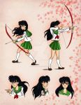 Kagome's pose and expressions by Harmoniah94
