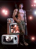 hey Captain!! (Chris Redfield) by kingofshadows26