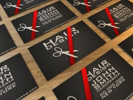 Business Card for hairdresser by Freshbusinesscards