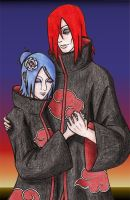 Gift Art: Konan and Nagato by VivianeLeFay