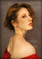 Lady in red by Sali76