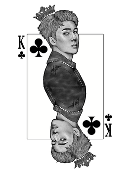 King of Clubs by Lineartt