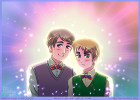 [APH][RusEng] Russia and England by Margo-sama