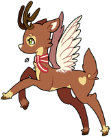 Choco Deer - Offer to Adopt [CLOSED] by KeyboardMjolk