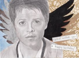 Castiel Wishes you a Happy Birthday by BinnyTheEarthHero