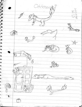 Some Odd Sketches by Oddosaurus