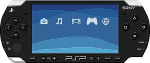 Sony PSP by BLUEamnesiac
