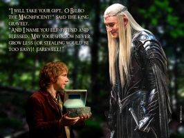 King Thranduil named Bilbo Elf-friend by Menkhar