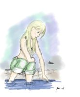 Girl by the sea by UrsulaMin