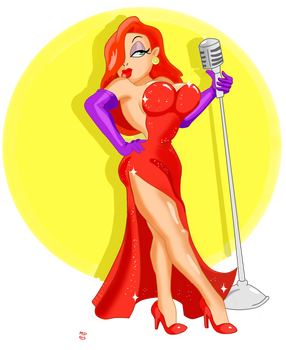 Jessica Rabbit by SpongeDudeCoolPants