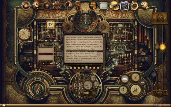 The Best Steampunkdesktop by resobrain