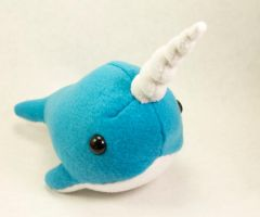 New Large Blue Narwhal by BeeZee-Art