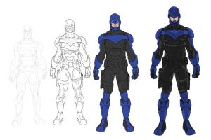 Nightwing Redesign Process by JOEYDES