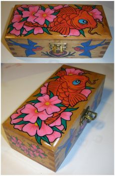 Koi wooden box by luther1000