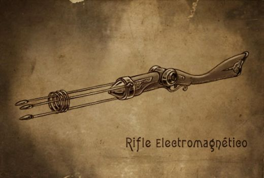 Electromagnetic rifle by Sgrum
